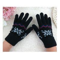 Wholesale children gloves wool - Wholesale- Unisex Children Knitted Winter Gloves Cashmere Soft Warm Mitten