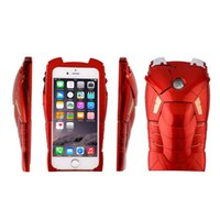 3D Marvel Ironman Жесткая задняя крышка Case Call Light Light Up для iPhone 6