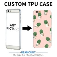 Wholesale Unique Cell Phone Covers - Unique Personalized DIY Customized Case Cover for iphone 7 7plus Mobile Phone Case Transparent Printed Patten Soft TPU Cell Phone Case