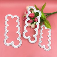 Wholesale Cake Decorating Cutters Flowers - Wholesale- 3pcs lot DIY Cookie Cutter Rose Flower Fondant Cake Decorating Pastry Tools Sugarcraft Biscuit Cutter For Kitchen Tools ZH01527