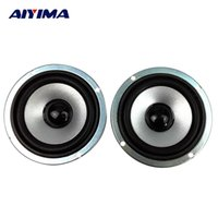 Wholesale Small Wholesale Dvds - Wholesale- AIYIMA 2pcs 3 inch 4 ohm 10W Full-range speakers circular magnetic computer audio multimedia speaker small speaker accessories