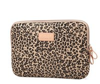 Wholesale Leopard Laptop Sleeve - Canvas Leopard grain Laptop sleeve case bag Cover For macbook notebook