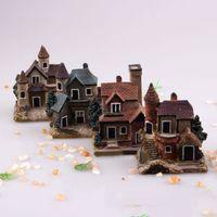 ingrosso miniature di giardino fiabesco-Miniatura casa Fairy Garden Micro Landscape Home Decoration Resina Craft Decor