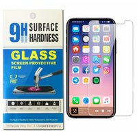 Para iPhone X 8 7 6 6s Plus Protector de pantalla de vidrio templado La mejor calidad para Galaxy J7 Prime on5 LG Stylo 3 0.26mm 2.5D 9H Anti-shatter