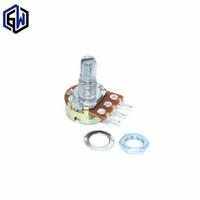 15mm welle großhandel-Großhandels-200PCS WH148 B10K Linearer Potentiometer 15mm Welle mit Muttern und Unterlegscheiben