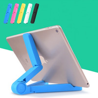 Wholesale portable fold stand tablet pc resale online - stand Portable Adjustable Fold up Stand Holder for iPad mobile phone mount cell phone holder support Tablets kinder Tablet PC Stand