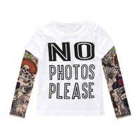 cooles mädchen scherzt t-shirt großhandel-Kinder Hip-Pop-Stil Stitching Leopard Sashimi Ärmel Shirts Jungen Mädchen Babykleidung T-Shirts kidstopsfashion Stil für coole Kids