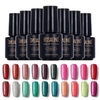 Wholesale Neon Nail Polish Colors - Wholesale-ROSALIND 2016 Fashion Neon Nail Gel Polish Soak Off UV Colorful Nail Colors Art For Gel Nail Polish Long-lasting Gel