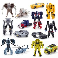 Wholesale Toy Classic Car Collection - Action Figure Toy Mini Classic Transformation Plastic Robot Cars Action Model Education Toys For Children Collection Of Articles 4wjs H1