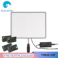 Wholesale Bi Color Led Video Light - Wholesale-New Arrival YONGNUO YN600 Air Led Video Light Panel Bi-color Photography Studio Lighting for DSLR and Camcorder as YN600 II