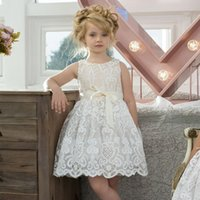 Wholesale Kids Girl Model Dress - Ins explosion models kids girls dress lace summer flower girl dress a baby on behalf of factory direct sales