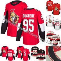 Wholesale Hockey Jersey Customized - 2017-2018 New Logo Ottawa Senators 95 Matt Duchene 65 Erik Karlsson 9 Bobby Ryan 25 Chris Neil 41 Craig Anderson Condon Customized Jerseys