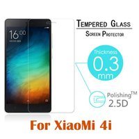 Wholesale Oleophobic Screen Coating - Wholesale-9H Arc Tempered Glass for Xiaomi Mi4i 5.0'' Screen Protector Oleophobic Coating Explosion-Proof Protective Film + Free Shipping