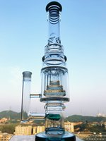 Wholesale three layer filter resale online - K139 Mobius three Layer Honeycomb ablets Filter Bongs Recycler Water Pipe Glass water Bong Smoking pipe quot inches dab rig
