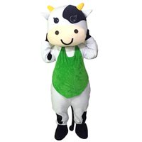Wholesale Cow Adult Costume Character - Milk Cow Mascot Costumes Cartoon Character Adult Sz 100% Real Picture66