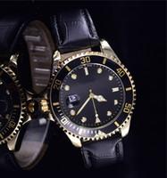 kahverengi saat kayışı siyah kadran toptan satış-Erkekler için ucuz markalı retro dijital tarih ünlü Beyaz kadran siyah paslanmaz durumda çalışma Lüks kahverengi deri kayış saatler hediye boys