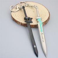 Wholesale anime asuna - Sword Art Online Anime Key Rings Kirigaya Kazuto Yuuki Asuna Alloy Sword Keychain Jewelry For Gift