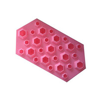 Wholesale First Silicone - High Quality Diamond Mold Ice Cube Tray 27 Cavities Crystal Silicone Ice Mold Candy quality first