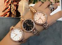 Wholesale Sal Flower - Hot Sal Ultra thin gold woman diamond flower watches 2017 brand luxury nurse ladies dresses female Folding buckle wristwatch gifts for girls