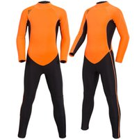 Wholesale New Kids Suits - SBART 2017 New 2mm Neoprene Kids Swim Wear Swimwear One-piece suits Long Sleeved Dive Surfing Wet Suit boys and Girls Sunscreen diving suits