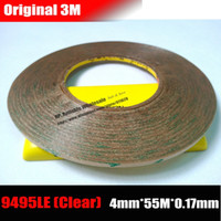Wholesale Wholesale Clear Tape - Wholesale- 2016 (4mm*55M*0.17mm) 3M 300LSE Clear Double Sided Adhesive Waterproof Tape for Macbook Phone LCD Display LED TouchScreen Glass