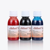 Wholesale Tattoo Ink Red Color - Wholesale- 3Pcs Airbrush Tattoo Ink For Body Painting Black & Blue & Red Color Tattoo Pigments For Temporary Airbrush Tattoo Makeup