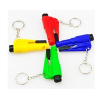 Mini-marteau d'urgence Car Key Chain Escape Tool Broken Window Cut Knife Whistle Safety Artifact