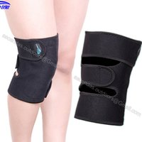 Wholesale Adjustable Heat Pad - Wholesale- 1 piece Magnets Healthy adjustable Knee Support Brace Wrap Sports Knee Pad Protector Guard Self-heating or Breathable Knee pad