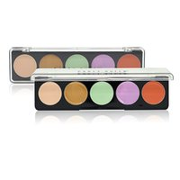 Großhandel-Brand New Professional Salon Party Make-up 5 Farben Concealer Palette Gesichtscreme Camouflage Make-up Neutral Palette Kosmetik-Set
