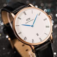 Wholesale Men Watch Leather Band Waterproof - reloj hombre Brand 2017 New Male Hot Sale Waterproof Leather Band Watches DZ Men Quartz Watches Date Wristwatch montre homme