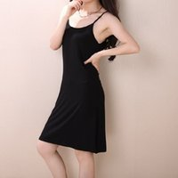 Wholesale Women New Base Skirt - Free shipping the new fashion in Europe and America in summer and autumn slim fit Cotton Camisole skirt modal base long dresses petticoat