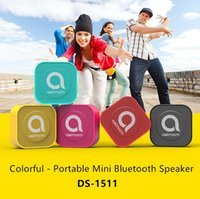 Wholesale Ds Card Box - Wholesale and retail - computer speakers, DS-1511 card Bluetooth stereo square mini small speakers new packaging free shipping