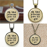 Wholesale american papers - 10pcs Oh The Places You'll Go! Typewriter & Old Paper Necklace keyring bookmark cufflink earring bracelet