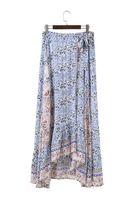 Wholesale Joker Split Fashion - Summer Fashion 2017 The new printing split joker seaside holiday beach dress lace-up 100% cotton