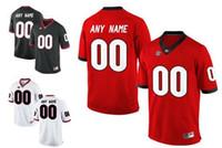 Wholesale Custom Black Football Jerseys - Mens Georgia Bulldogs Custom Stitched College Football Limited Jerseys 10 Jacob Eason 27 Nick Chubb 1 Sony Michel #3 7 34 Black Red White