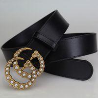 Wholesale Ladies Waistband Belts - 2017 New Famous Brand Genuine leather High quality ladies belt drill buckle luxury brand belt designer belt leather waistband 105-125cm 802
