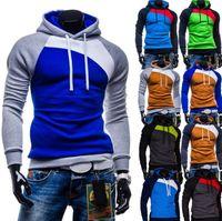 Wholesale Suits Teenager - Causal Mens Hoodies Male Fashion Sportswear Outerwear Slim Sweatshirt Men's Teenagers Long Sleeve Sport Suits For Men Clothing
