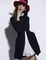 Wholesale High End Mini Dresses - Office Wear Women's Dresses Spring New High-end Retro Wave Point Into Joining Together Cultivate One's Morality The A-line Skirt