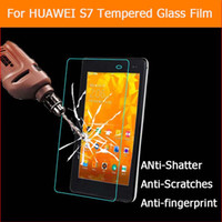 """Wholesale Ideos Screen - Wholesale- Premium tempered glass film For HUAWEI IDEOS S7 Slim 7.0"""" tablet pc Anti-shatter LCD Screen Protector Film with"""