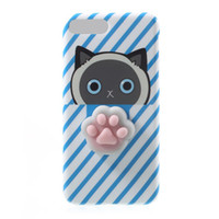 Wholesale stress relieving metal for sale - 2017 New D Cat Squishy Phone Bag Case for IPhone Plus Capa Soft Squeeze Toys Back Cover for s Plus Stress Relieve Shell