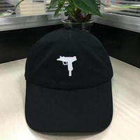 Wholesale Packing Cap Hat - New 2017 gun Snapback Hat American Fashion UZI baseball cap hip hop Streetwear Curve Brimmed 6 panels Cartoon Packing casquette dad hat