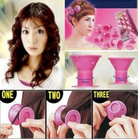 10pcs / set Hairstyle Soft Hair Care DIY Peco Roll Hair Style Roller Curler Salon Styling Tools CCA6508 100set