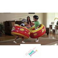 Wholesale Intex Balls - Wholesale- 2017 Hot Sale New Kids Intex KA-POW Bumpers Tube Double Layer Inflatable Body Bumper Ball Fun Indoor Outdoor Play Bump Toys