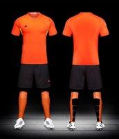 Wholesale Diy Train Set - survetement football 2017 maillot de foot 2016 men and kids Soccer jersey Breathable Training Set Sports Kits men DIY Soccer Suits