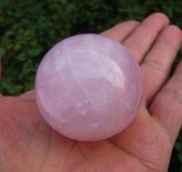 Wholesale Quartz Crystal Carvings - 40mm natural rose quartz crystal sphere ball heal