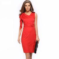 conçoit des robes de soirée de dames achat en gros de-Mode féminine robe de soirée lady bodycon crayon jupes travail d'été robes sans manches sexy design élégant col en V OL-8682