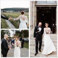 Wholesale Sarah Bridal Gowns - 2017 Boho Wedding Dresses Designed by Sarah Seven Vintage A Line Scoop Zipper Back with Detachable Jacket Long Sleeves Rustic Bridal Gowns