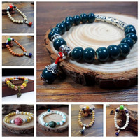 bracelete de cerâmica venda por atacado-Retro vento nacional pulseira de cerâmica mão jóias imitação de cera de abelha FB006 ordem da mistura de 20 peças muito frisado, fios