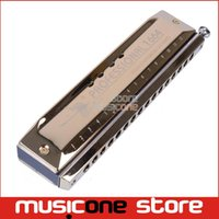 Wholesale Swan Mouth Harmonica - Wholesale-Swan Chromatic Harmonica Senior 1664-3 Serie Golden Harmonica C key Mouth harp Organ Musical Instrument
