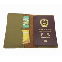 Wholesale Cheap Passport Cases - cute cheap women luxury passport protective holder case gobal standard size genuine leather travel lady passport cover